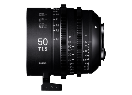 Sigma 50mm T1.5 High-Speed Cine Prime - Canon Fit